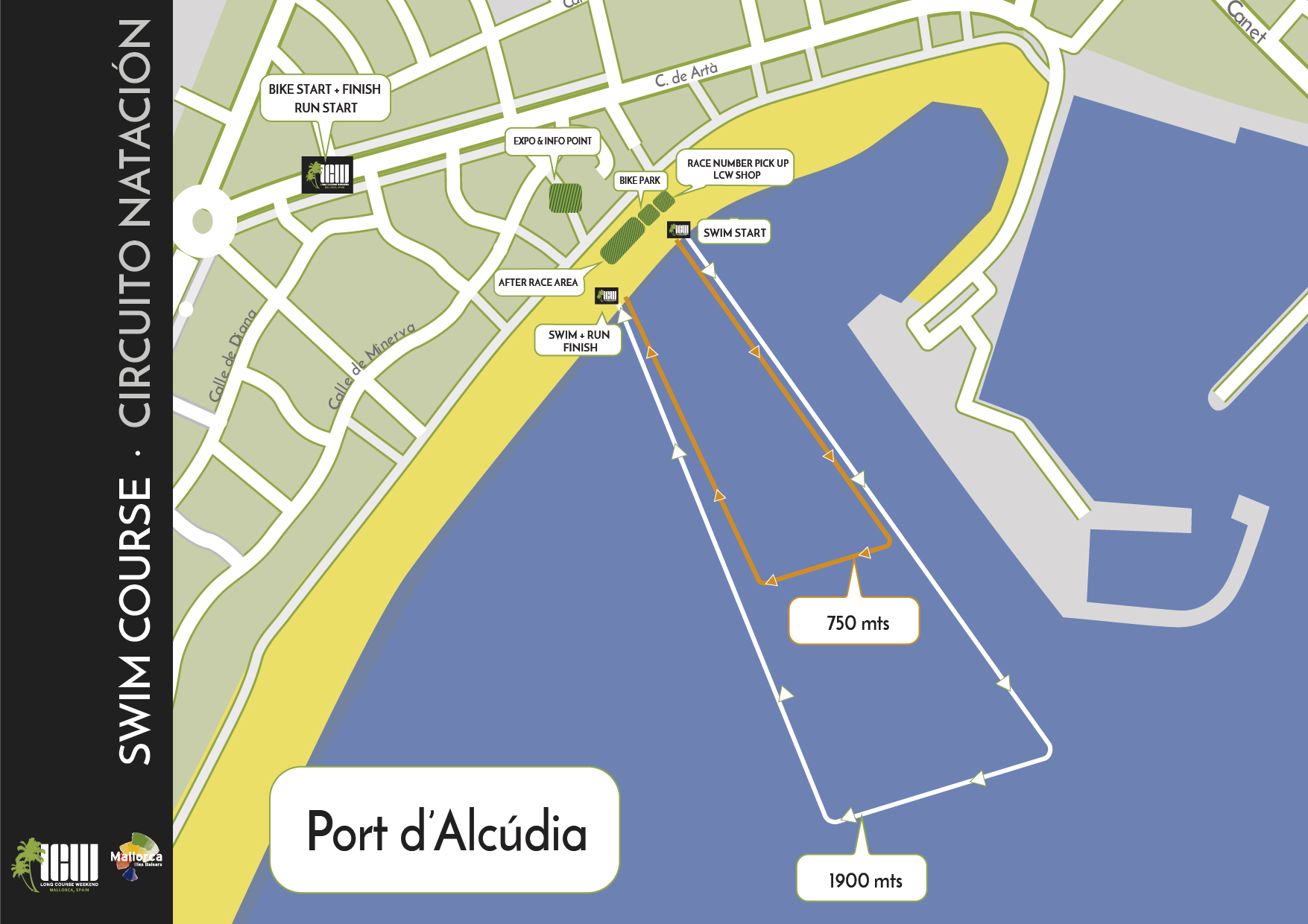 LCW Mallorca Swim Map